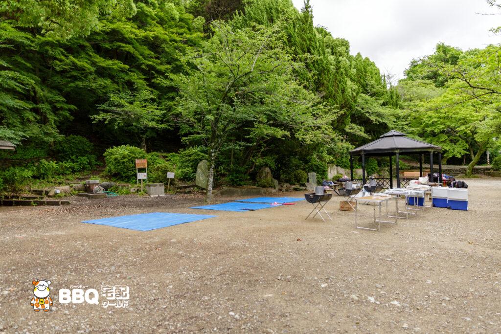 五月山公園BBQコンロ設置