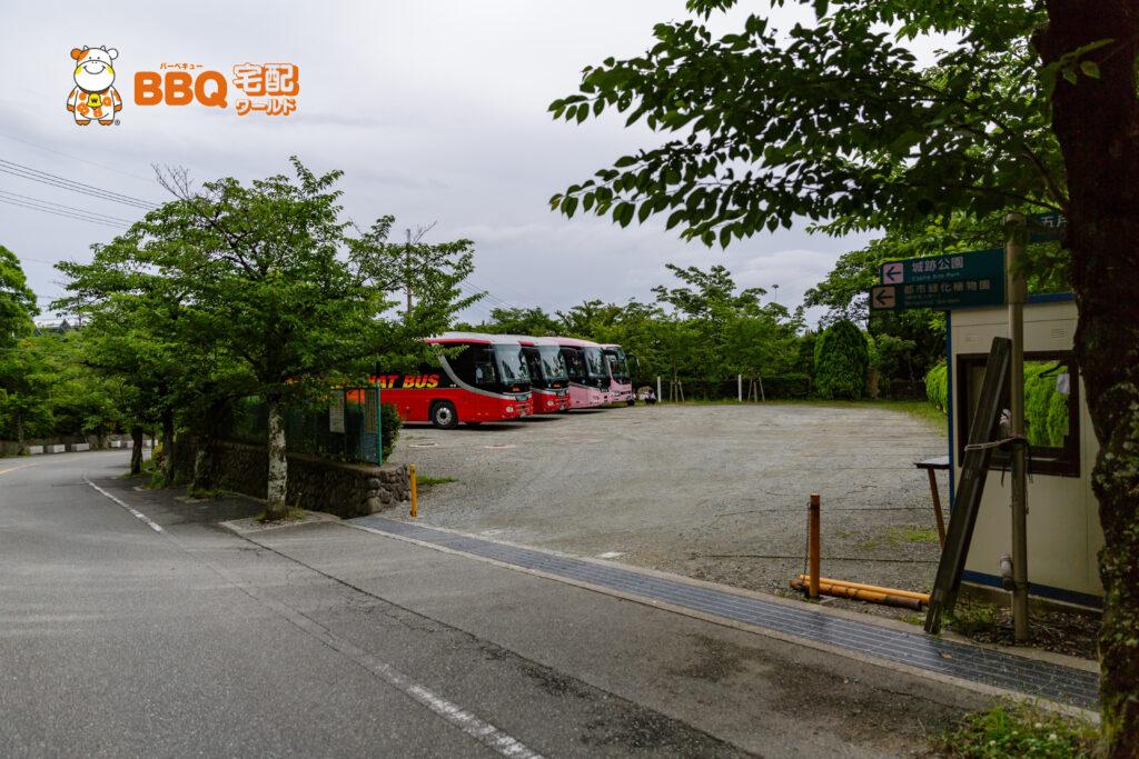 五月山公園のバス専用駐車場