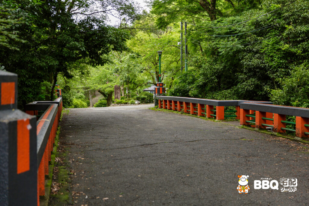 五月山公園BBQ広場へ続くもみじ橋