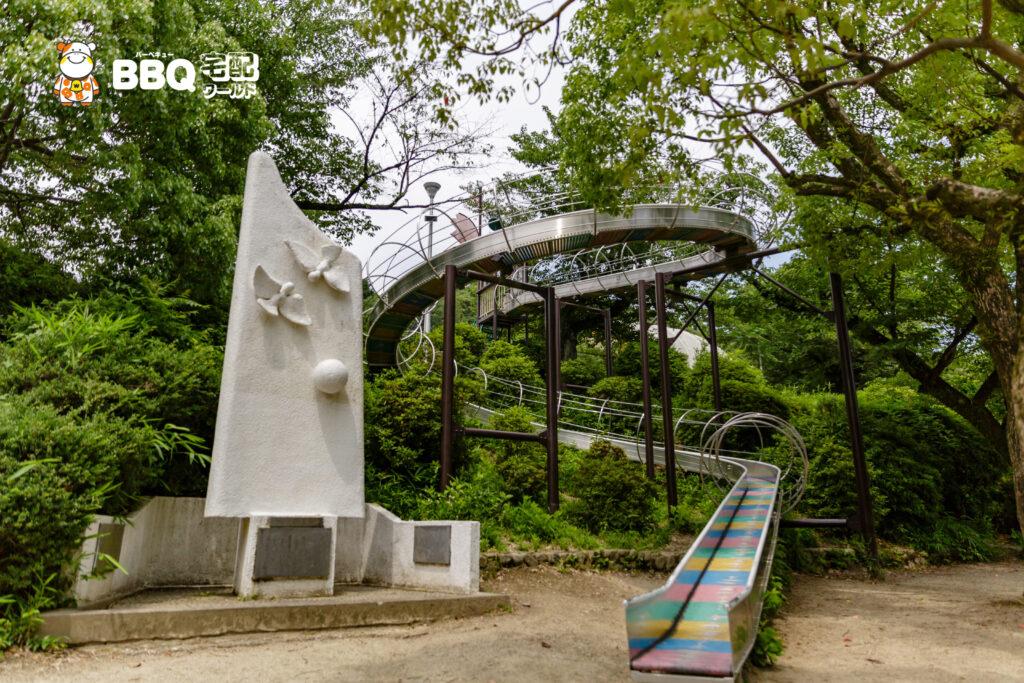 五月山公園の「忍者のとりで」滑り台
