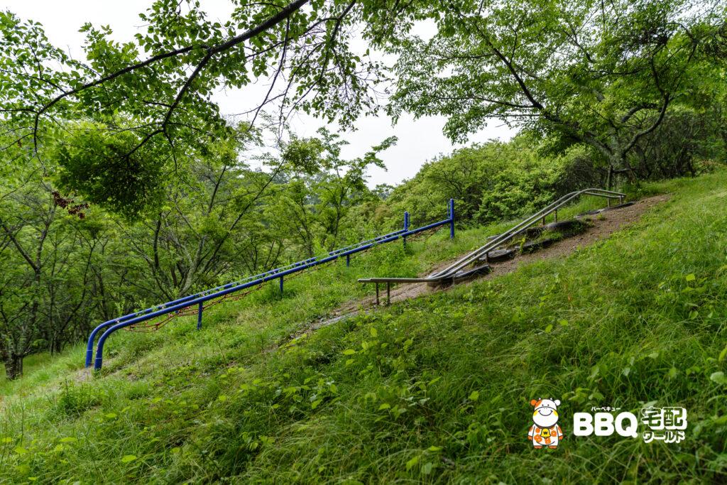 天理ダム風致公園アスレチック1