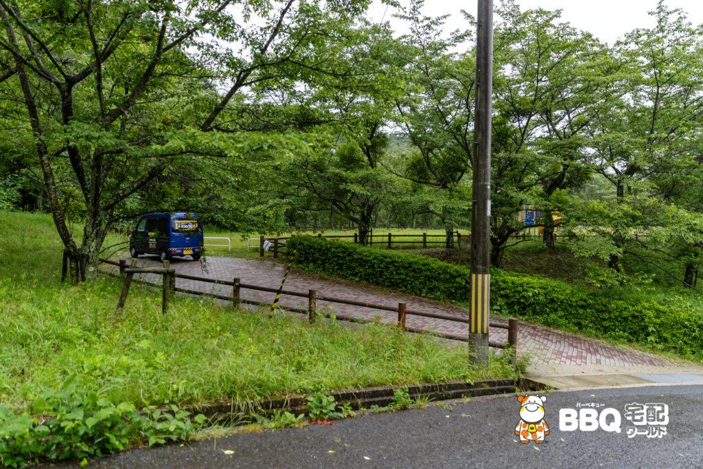 天理ダム風致公園BBQ場入口