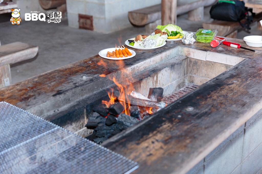 松原BBQハウスの炉