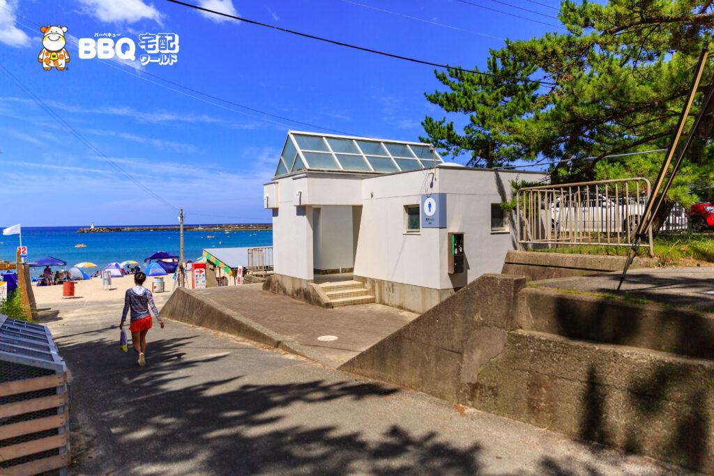 若狭和田海水浴場のトイレ