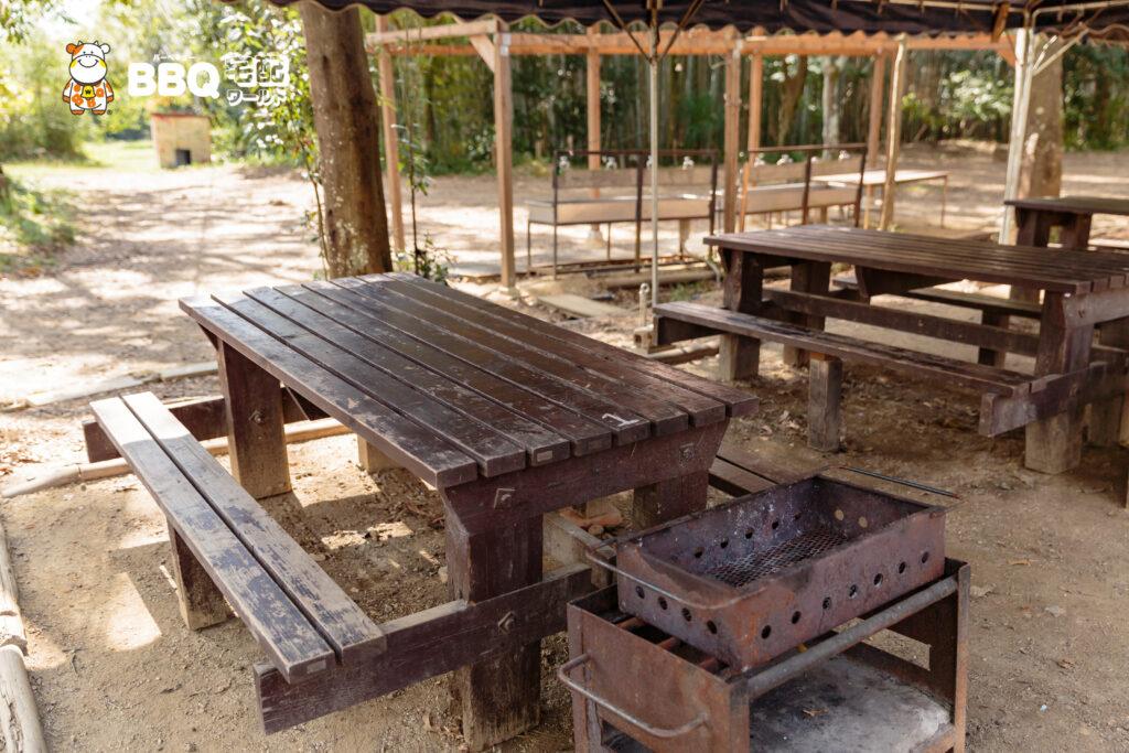 友愛の丘BBQテーブルと椅子