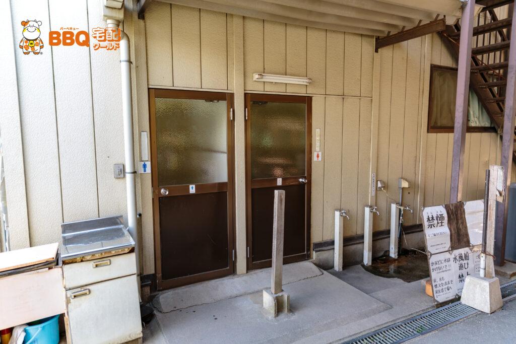 友愛の丘BBQサイト「梅の里」横のトイレ
