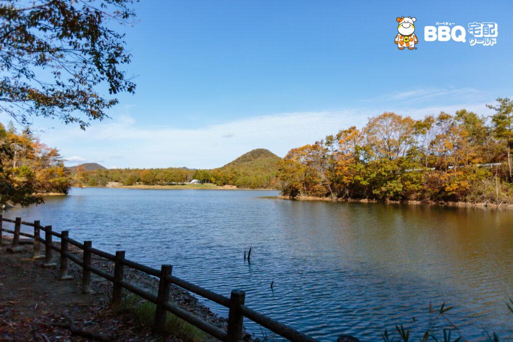 加茂山第1公園BBQエリア眺望