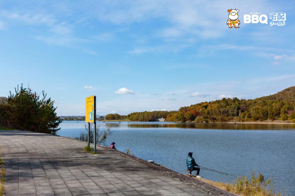 加茂山第3公園の釣りの様子
