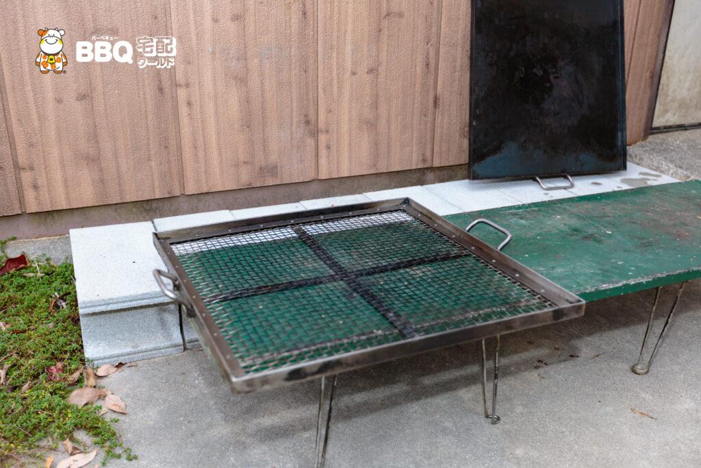神戸青少年公園デイキャンプ場貸出しBBQ網