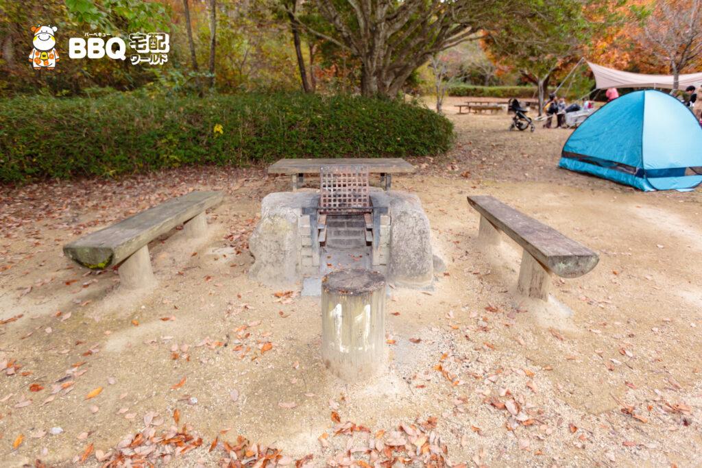 神戸青少年公園デイキャンプ場BBQ炉1