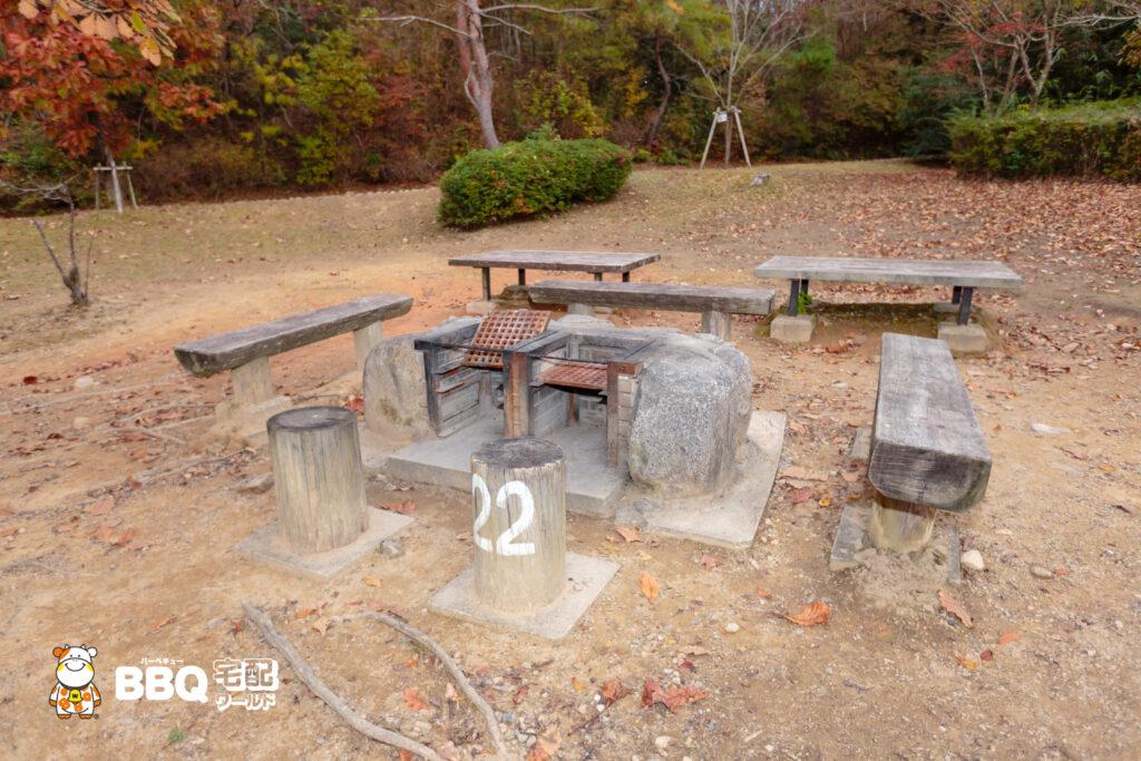 神戸青少年公園デイキャンプ場BBQ炉2