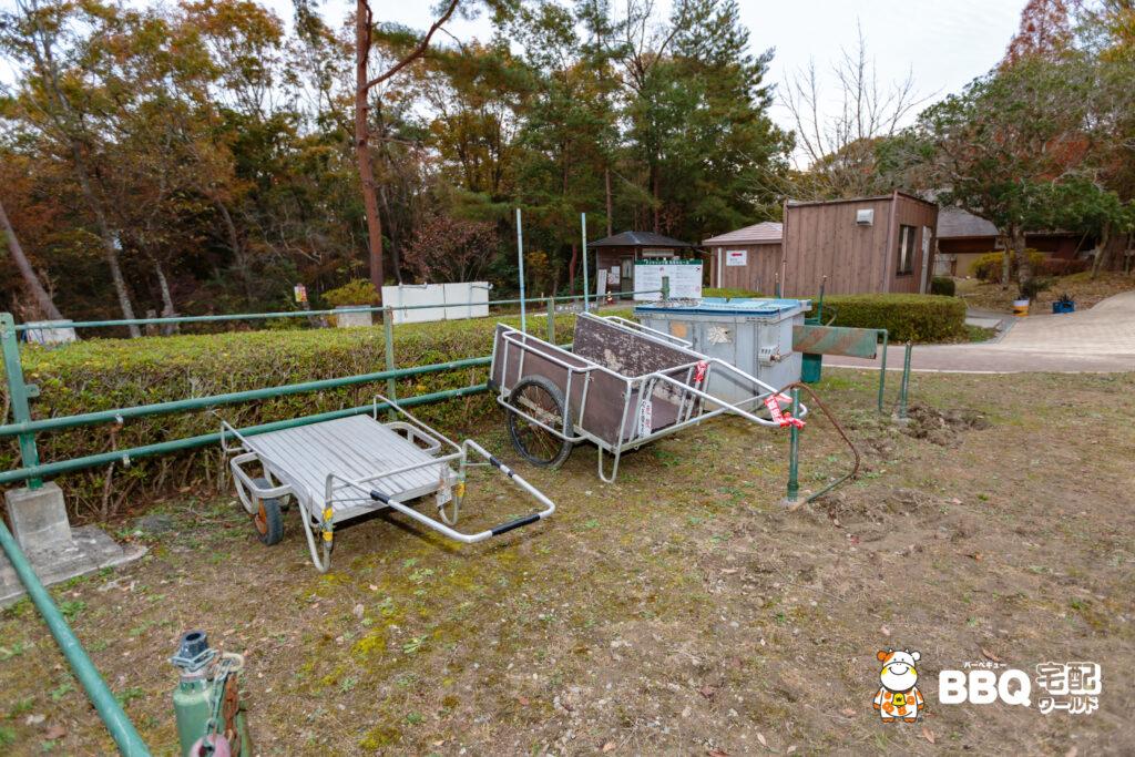 神戸青少年公園デイキャンプ場リアカー