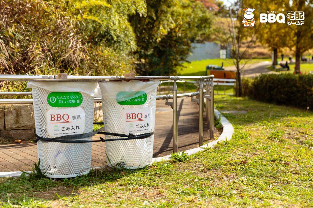 蜻蛉池公園BBQ場のゴミステーション