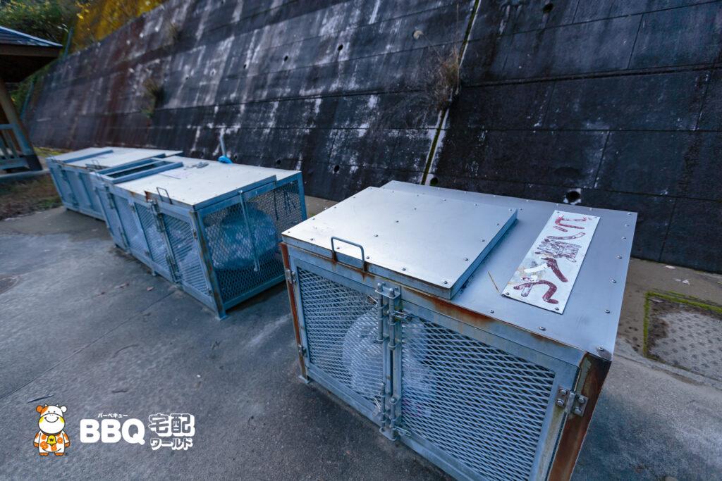 小口キャンプ場ゴミ箱