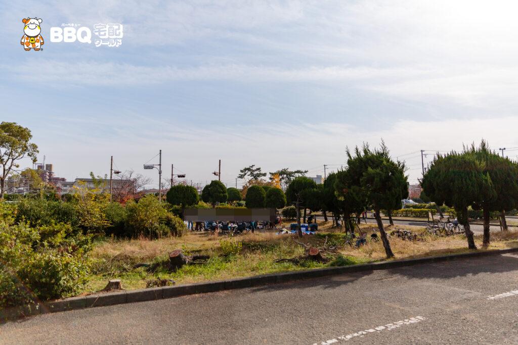 助松公園の交通公園BBQエリア