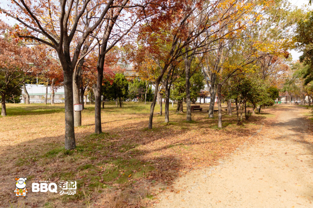 助松公園の一番北側のBBQエリア