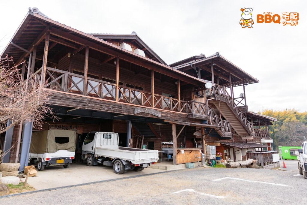 天理観光農園の2階BBQ場