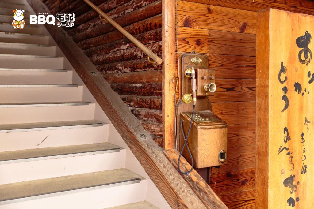 天理観光農園の古い電話機