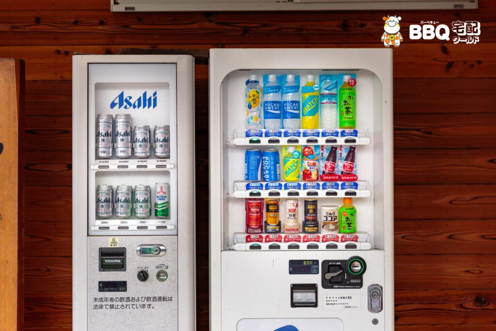 天理観光農園の自動販売機ビール