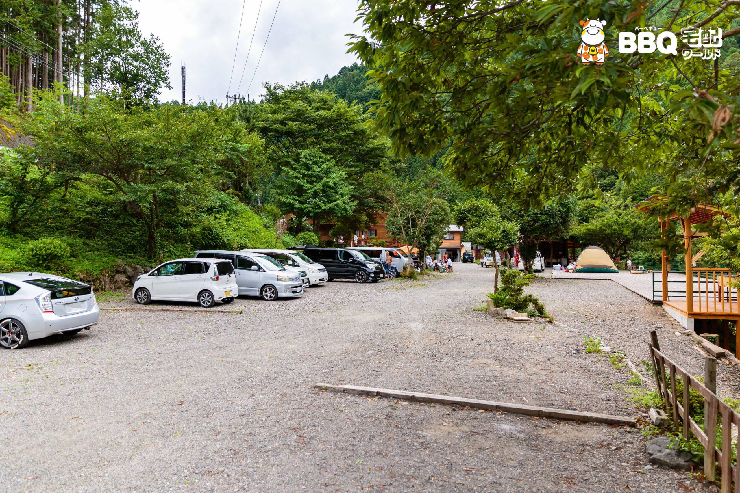 オートキャンプ場庵の郷駐車場