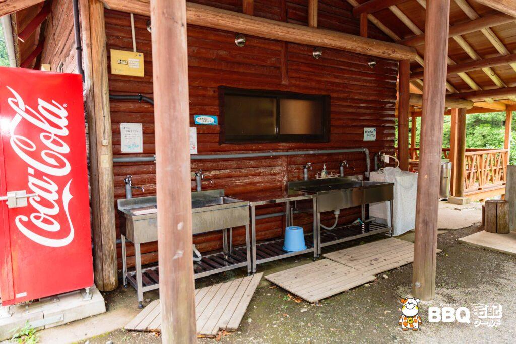 オートキャンプ場庵の郷の炊事場