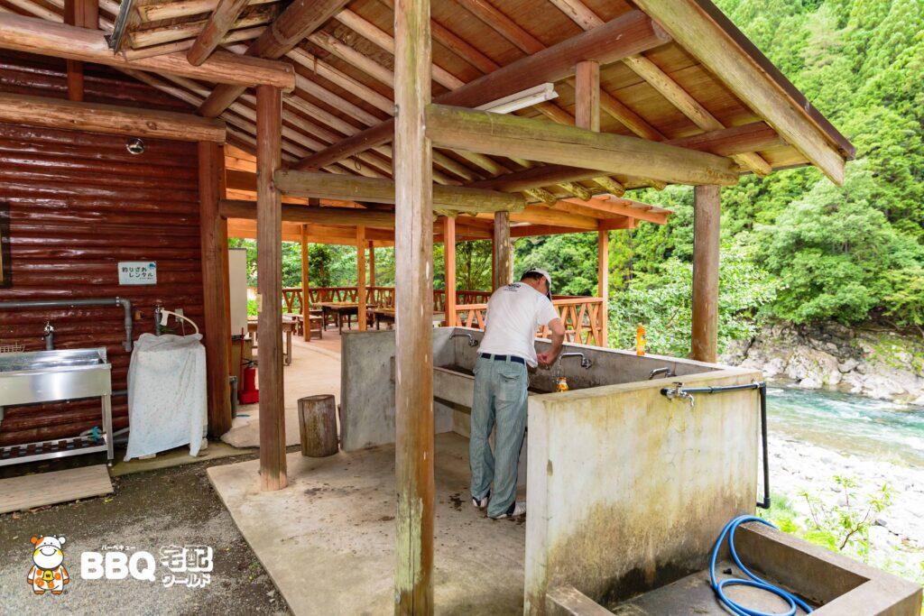 オートキャンプ場庵の郷の洗い場