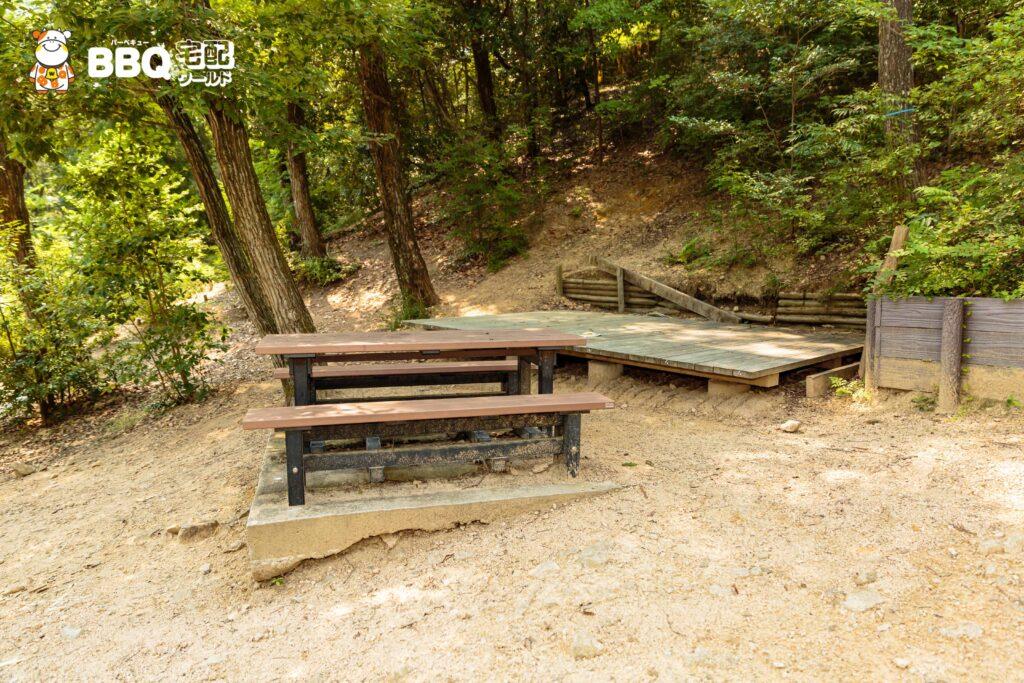 社家郷山キャンプ場Bサイト1