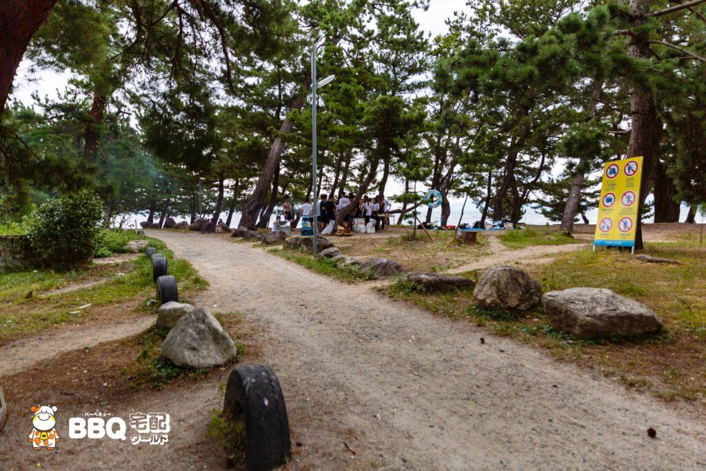 020年9月近江舞子中浜水泳場BBQの様子