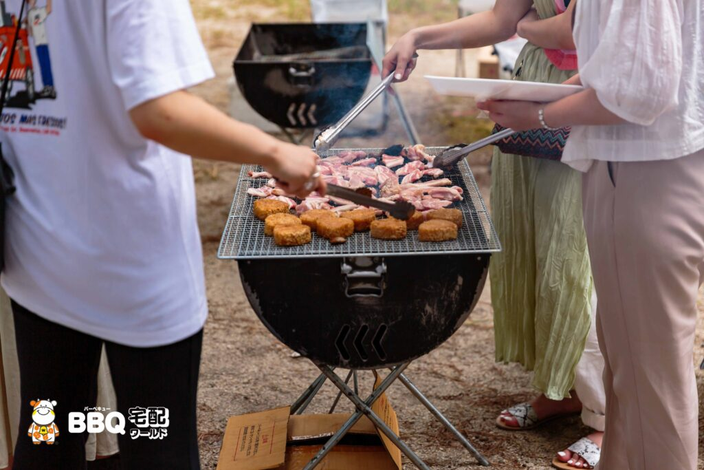 2020年9月近江舞子中浜水泳場BBQコンロ