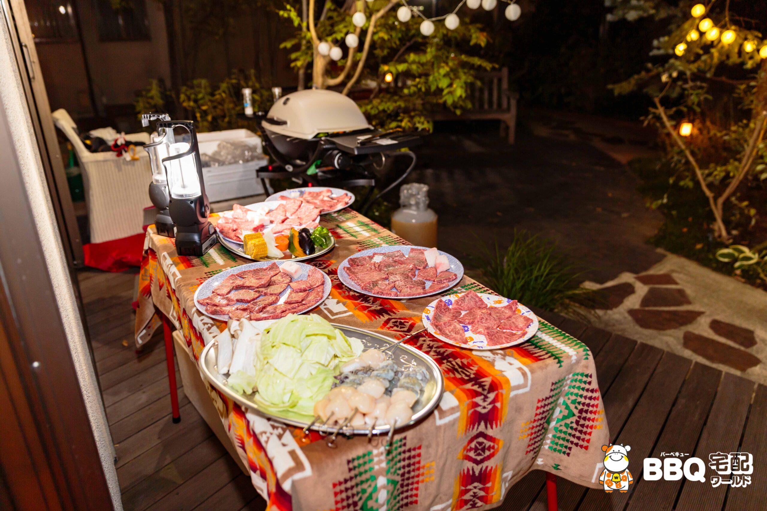 BBQホームパーティー器材レンタルセット食材