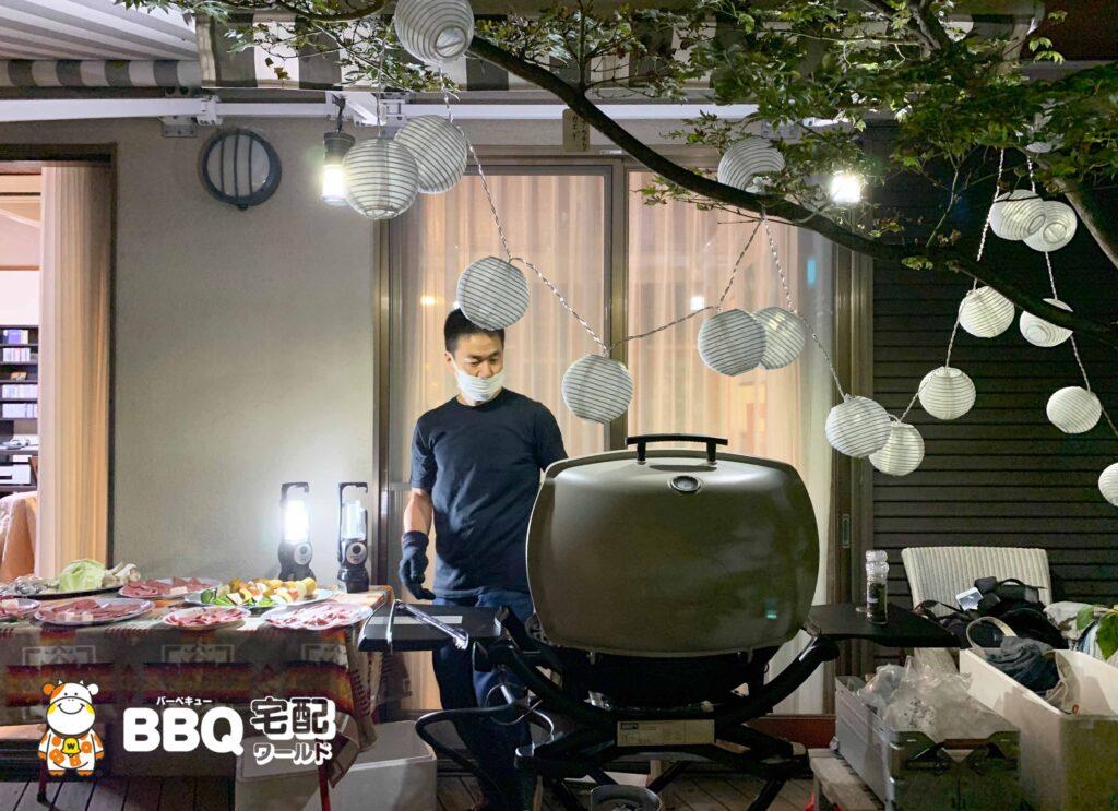 BBQホームパーティー器材レンタルセットお客様撮影の写真