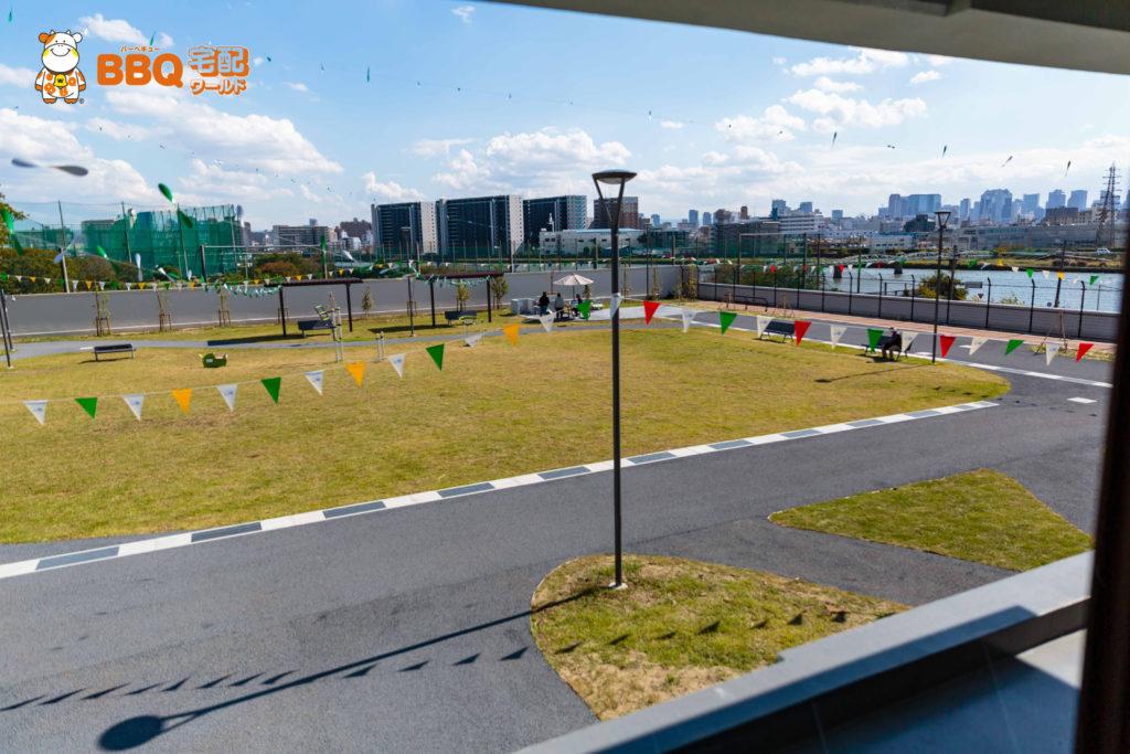庄内グリーンスポーツセンターBBQ眺め