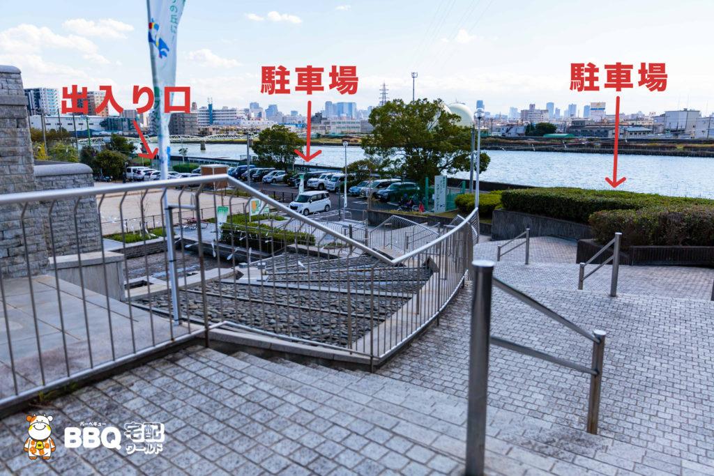 庄内グリーンスポーツセンター階段
