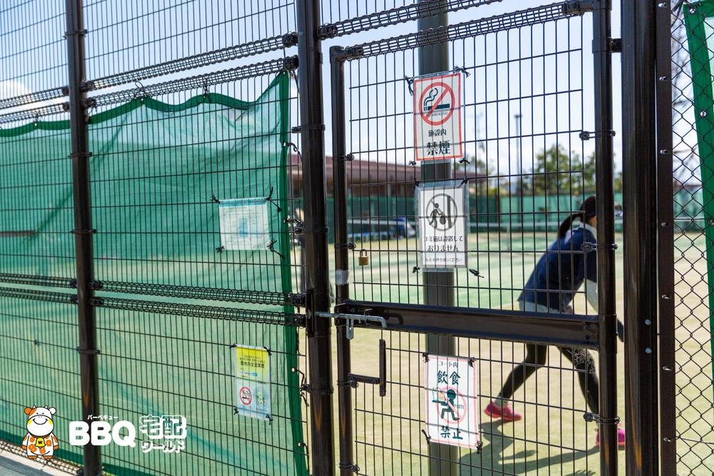 庄内グリーンスポーツセンター屋根無しテニスコート