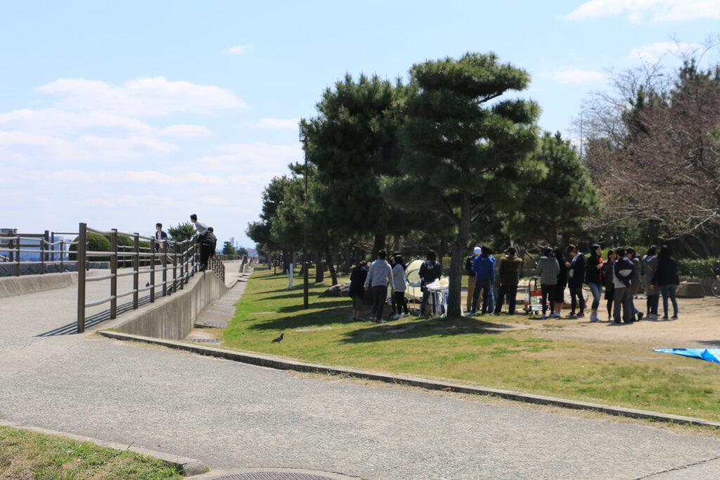 甲子園浜BBQエリア遊歩道