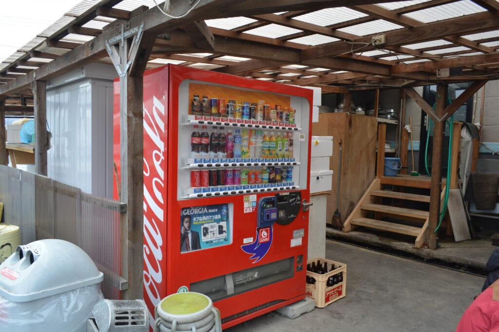 海の駅しおじBBQ自動販売機