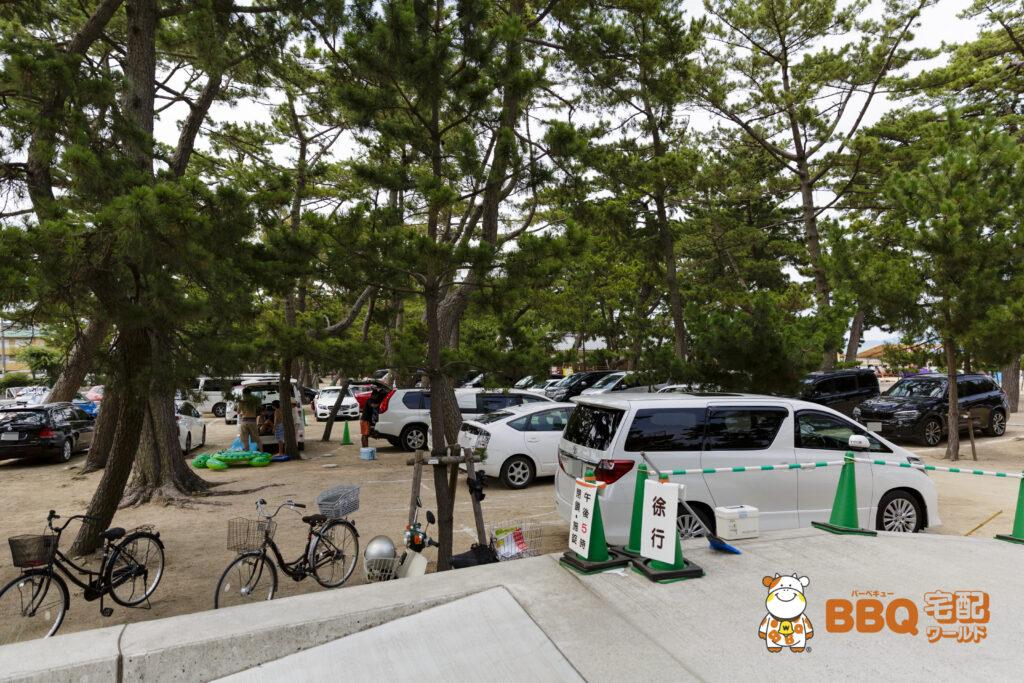 大浜海水浴場北駐車場入口