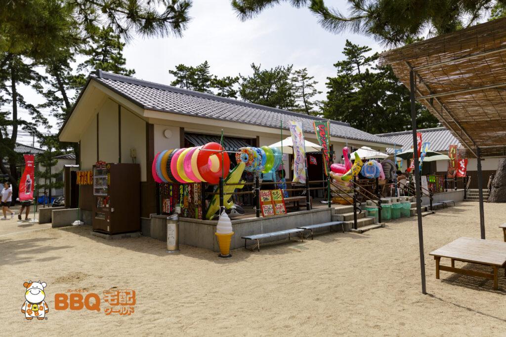 大浜海水浴場の売店