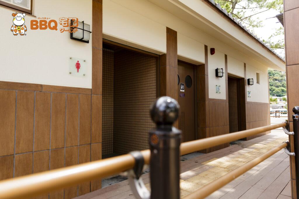 大浜海水浴場のトイレ