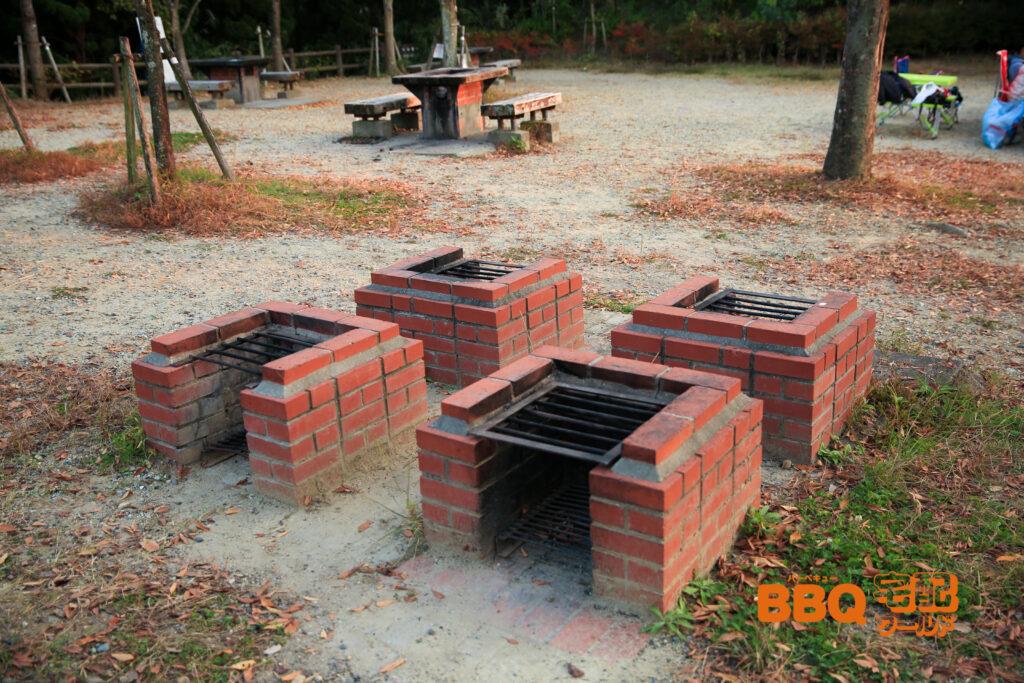 いぶきの森BBQ場の野外炉
