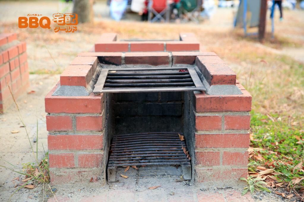 いぶきの森BBQ場の野外炉拡大