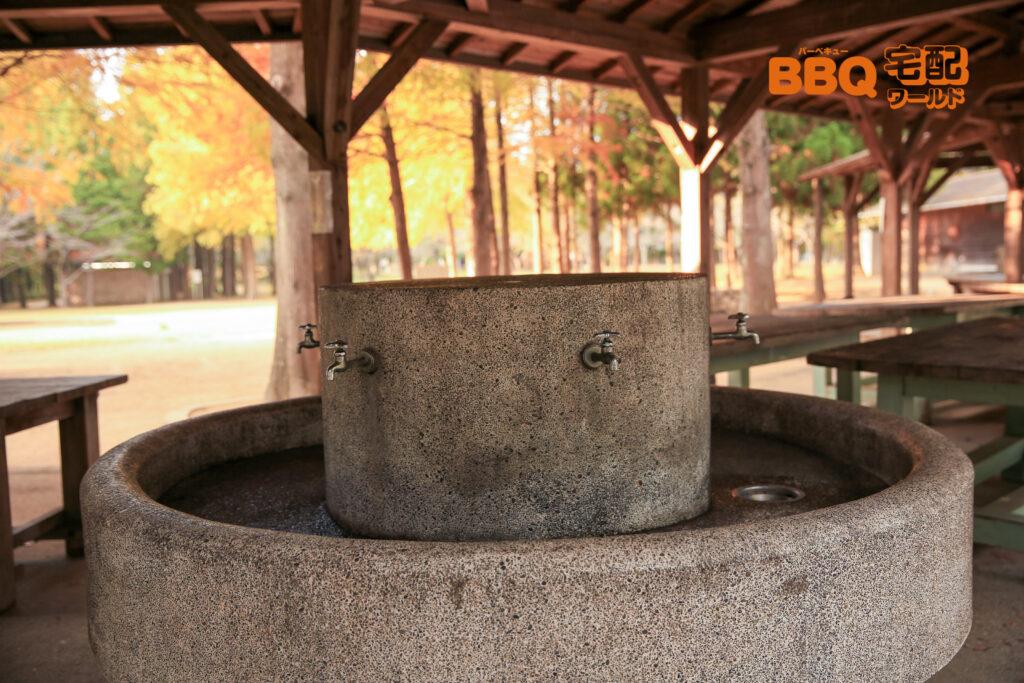 稲美町野外活動センターBBQサイトの水道