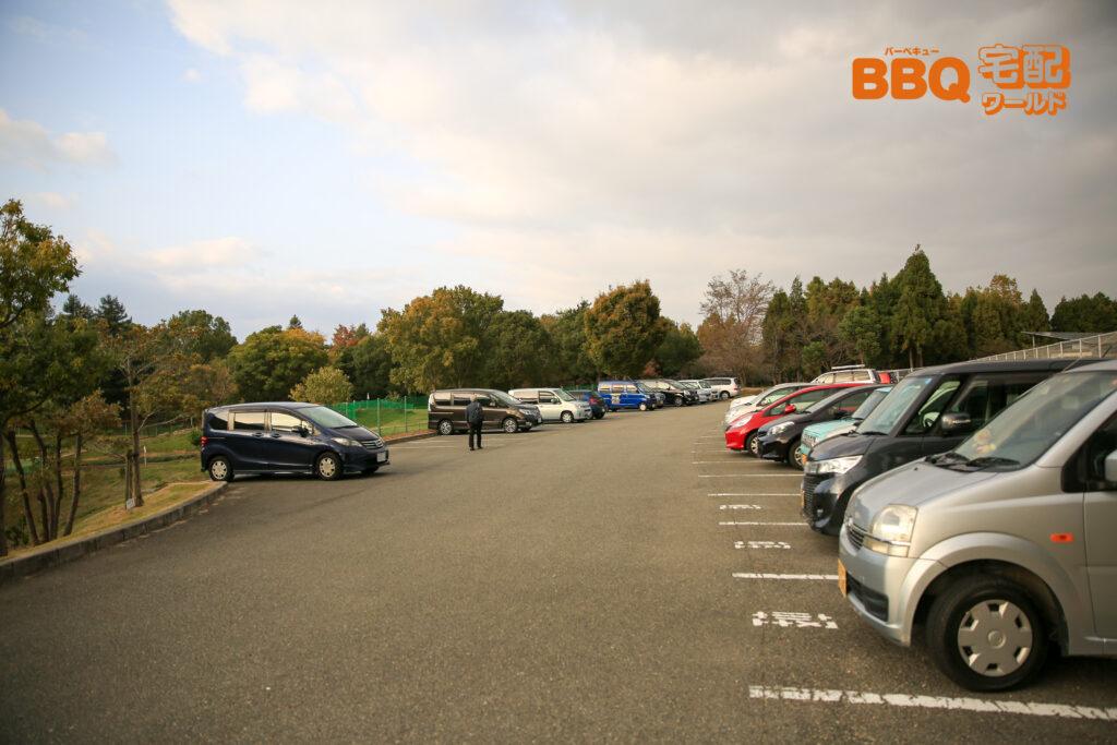 稲美中央公園の駐車場