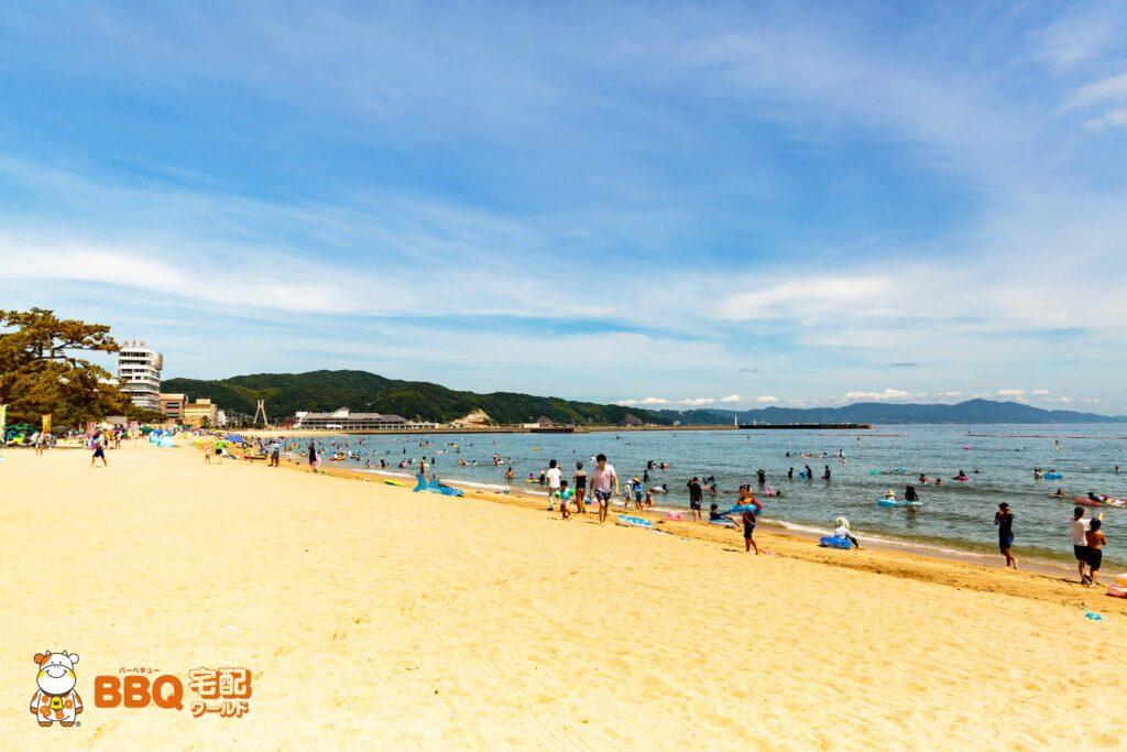 大浜海水浴場のビーチ