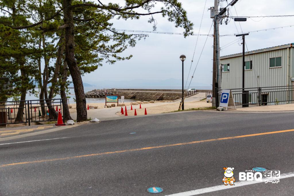 大浜海水浴場南駐車場入口