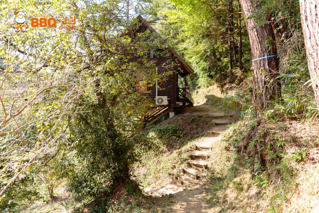 山城町森林公園のバンガロー