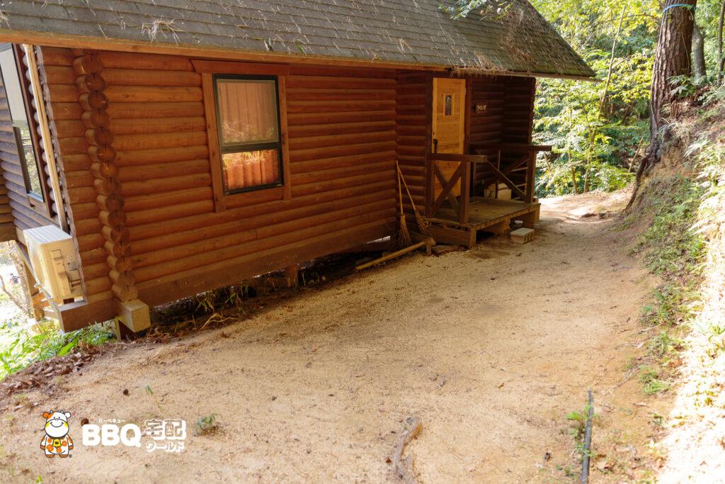 山城町森林公園のログハウス3