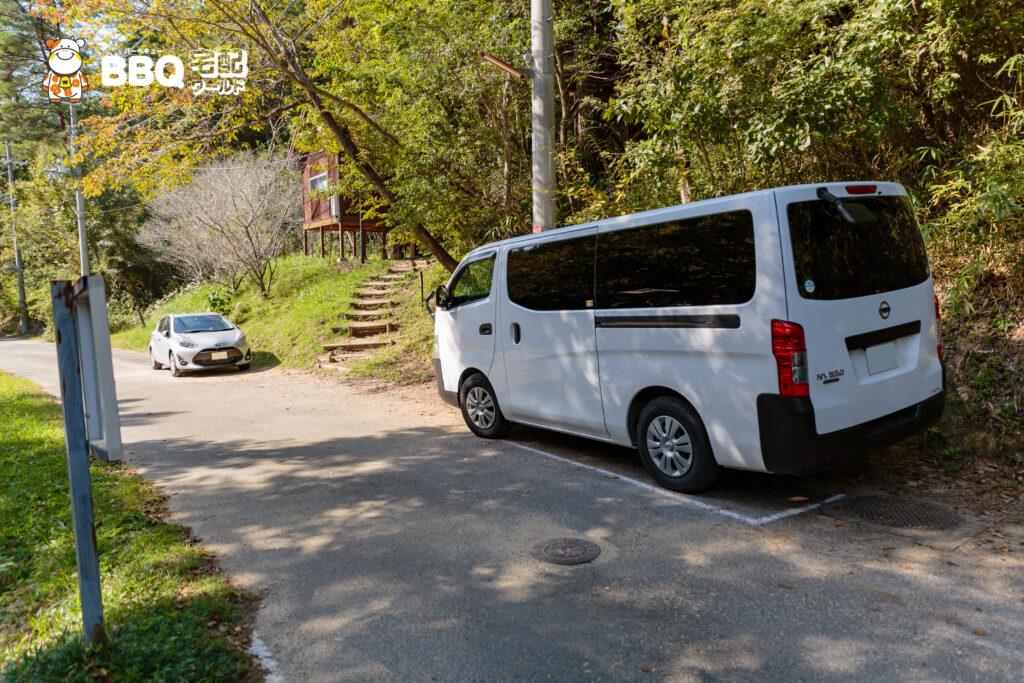 山城町森林公園の駐車場1