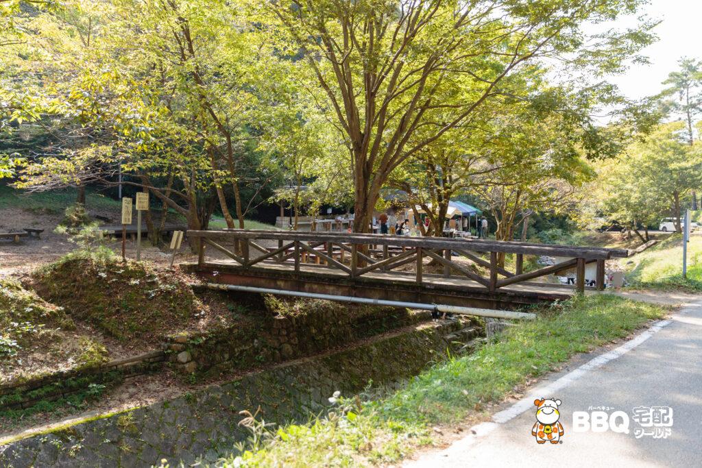 山城町森林公園テントサイトへ行く橋