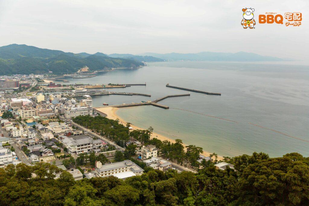 洲本城展望台からの眺め